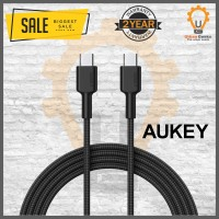 Aukey Cable CB-CD19 Braided type C to type C 2M Black - 500428