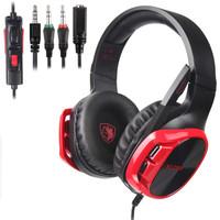 Sades R17 Multiplatform Gaming Headset - Merah
