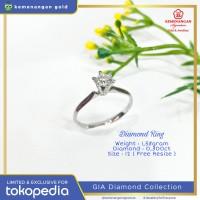 Cincin Berlian GIA Diamond Solitaire ring size : 11 1/2 #5256562032