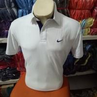 BIG SIZE !!! Kaos kerah nike putih gading / polo shirt