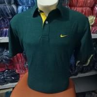 Size M !!! Kaos kerah nike hijau army / polo shirt