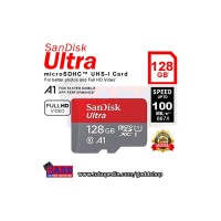 Memory Card Micro SD Sandisk Ultra class 10 A1 100 Mb/s - 128 GB