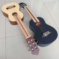 Guitalele gitalele Neck Utuh GL1 super custom gitar mini hitam