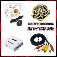 Paket anycast dongle hdmi av converter for tv tabung