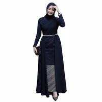 kebaya brokat maxi IVAN set rok batik - navy