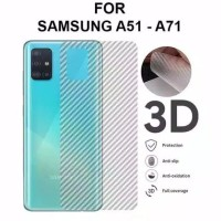 Samsung Galaxy A71 Skin Carbon Garskin Anti Gores Belakang