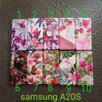 Soft case Samsung A20S motif glitter tanam softcase silikon softshell