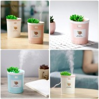 Succulents Air Humidifier With Night Light Timing Aromatherapy 350 ML