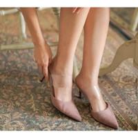 Sepatu High Heels Wanita Valen Surin shoes (black, pink)