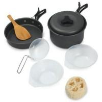 Panci Masak Cooking Set Outdoor 8 PCS - WH-200 - Black