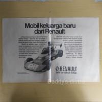 Poster RENAULT ELF Formula 2 majalah lama vintage old koleksi dekorasi