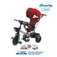 Stroller Sepeda Roda Tiga - Family Bike - Clarte - Merah - F960