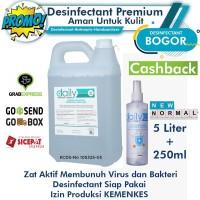 Disinfectant Premium Aman Untuk Kulit 5 Liter+250ml