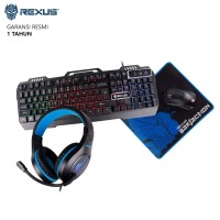 Rexus Warfaction VR3 Max Combo Gaming Keyboard Mouse Headset