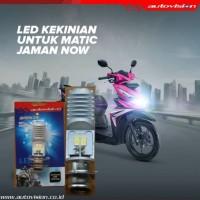 Lampu LED Motor AUTOVISION Honda Beat F1 (Putih) Bohlam RZ1 Hrs 6Bln