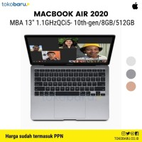 Macbook Air 2020 Intel i5 10th Gen 512GB 8GB -Retina Display