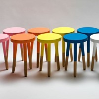 stool bulat / stool kayu / kursi bulat /furniture