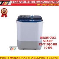 MESIN CUCI 2 TABUNG SHARP ES-T1090 BK/VK/PK (10KG)