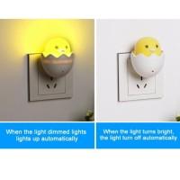 lampu tidur led sensor cahaya / lampu led model anak ayam sensor gelap