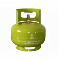 Tabung Gas Kecil LPG elpiji 3 Kg Melon bonus 2 bh Karet Seal
