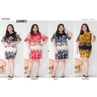 Dress Jumbo Batik Mix Baju Wanita Bigsize