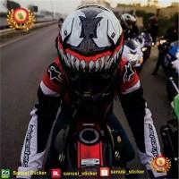 Stiker Helm - Stiker Decal - untuk semua jenis helm - Desain Venom 2