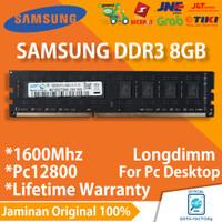 RAM SAMSUNG DDR3 8GB PC MEMORY PC-12800 / 1600MHZ LONGDIMM DDR 3 8 GB