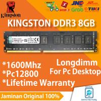 RAM KINGSTON DDR3 8GB PC MEMORY PC-12800 / 1600MHZ LONGDIMM DDR 3 8 GB