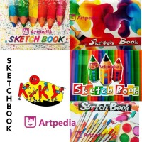 SPECIAL !! KIKY SKETCH BOOK A5 /BUKU GAMBAR SKETSA ISI 50 LEMBAR