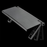 Portable Computer LCD Display Holder Foldable Screen Top Storage