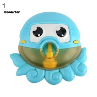 MS Lovely Octopus Shape Bubble Blower Machine Music Baby Tub Bath