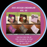 DVD desain Undangan Pernikahan Vol 01-03 limited stock