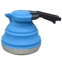 Botol Air Minum Lipat Portable Bahan Silikon Ukuran 1.5L