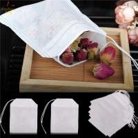 Pouch Transparan Warna Putih Model Tali Serut untuk Penyimpanan