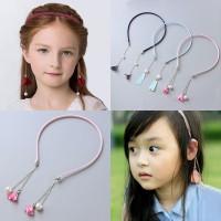 Chinese Style Baby Girl Retro Tassel Fake Earrings Pearl Hairband