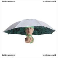 1Pc Payung Kepala Portable Anti UV / Hujan untuk Travel / Memancing