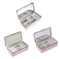 Kotak Wadah Portabel dengan Model Cincin dan Bahan Kulit PU Bergaya