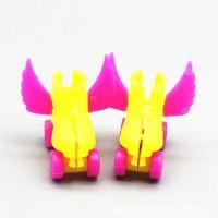 4Pcs / Set Sepatu Roller Skate + Headset + Helm untuk Boneka 1 / 6