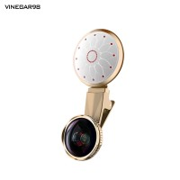 4K Wide Angle Lens Macro Dimmable Selfie Light Phone