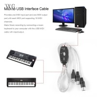 ♔WG♔ MIDI to USB Interface Cable Adapter for Keyboard Electronic