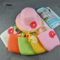 P Summer Beach Little Princess Baby Kids Girl Flower Straw Sun Hat