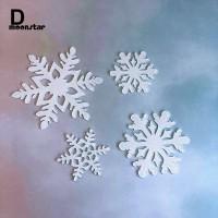 MS 4Pcs Topper Kue Bentuk Snowflake untuk Pesta Natal