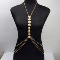 Women Statement Body Jewelry Necklace Cross Waist Bikini