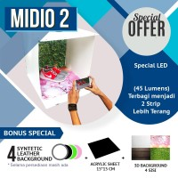 Mini Photo Studio Portable Midio 2 + Background 3D Qns