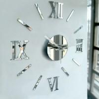 1 set Modern DIY Interior Roman Wall Clock Wall Clock 3D Sticker