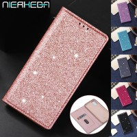 Glitter Leather Magnetic Flip Case for Samsung A10 A20 A30 A40 A50