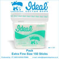 KOREK KUPING BAYI / COTTON BUD BABY IDEAL Pack isi 150 pcs - I 131