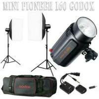 Paket Lengkap Lampu Studio GODOX-160 - Mini Pioneer Studio Flash