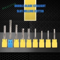 ma❀ Double-edged Straight Slot Milling Cutter Router Bit CNC