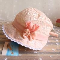 Bsuns Topi Model Princess dengan Hiasan Pita untuk Musim Panas /